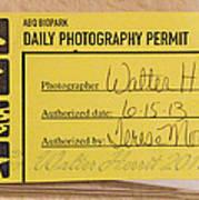 Photo Permit Art Print