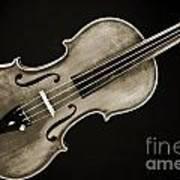 Photograph Of A Complete Viola Violin In Sepia 3370.01 Art Print