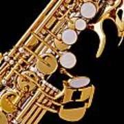 Photograph Of A Soprano Saxophone Color 3355.02 Art Print