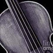 Photograph Of A Upper Body Viola Violin In Sepia 3369.01 Art Print