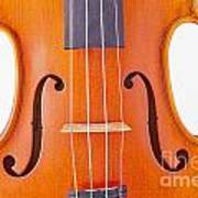 Photograph Of A Viola Violin Middle In Color 3374.02 Art Print