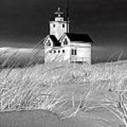 Photograph Of The Lighthouse Big Red In Holland Michigan Art Print