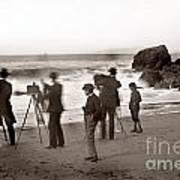 Photographer On The Beach California  Circa 1887 Art Print