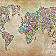 Photographer World Map Art Print