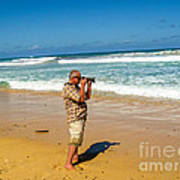 Photorgapher Near The Ocean Art Print
