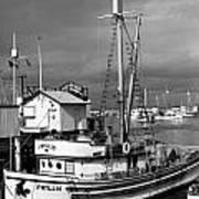 Phyllis Purse-seiner Monterey Wharf California  Circa 1940 Art Print