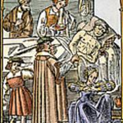 Physician & Plague Victim Art Print