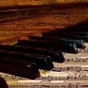 Piano And Music Art Print