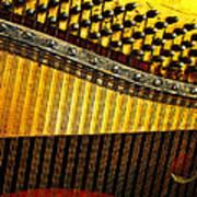 Piano Harp Art Print