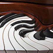 Piano Surrlistic Art Print by Garry Gay