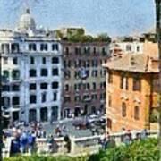 Piazza Di Spagna In Rome Art Print