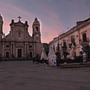 Piazza Duomo Terrasini Art Print