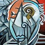 Picasso Bust Art Print