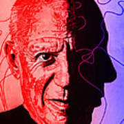 Picasso In Light Sketch 2 Art Print