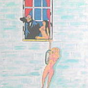 Picasso With Two Lesbians Art Print