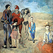 Picasso's Family Of Saltimbanques Art Print