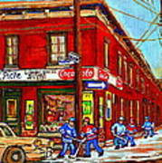 Piche's Grocery Store Bridge Street And Forfar Goosevillage Montreal Memories By Carole Spandau Art Print