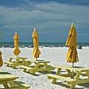 Picnic At The Beach Art Print