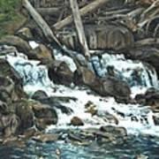 Picnic At The Falls Art Print