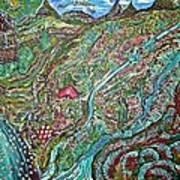 Picnic By The Lake Art Print by Matthew  James