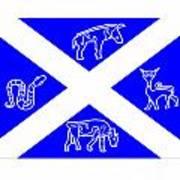 Pictish Scotland Flag 2 Art Print