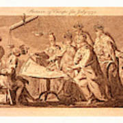 Picture Of Europe For July 1772, Catherine II Art Print