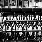 Picture Of Natchez Steamboat Paddle Wheel In New Orleans Art Print