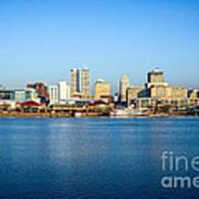 Picture Of Peoria Illinois Skyline Art Print by Paul Velgos