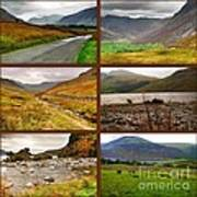 Autumn Picture Window Of The Lake District Art Print