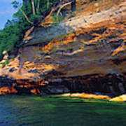 Pictured Rocks National Lakeshore, Lake Art Print