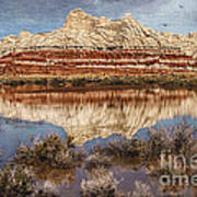 Picturesque Blue Canyon Formations Art Print