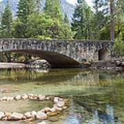 Picturesque Bridge In Yosemite Valley Art Print