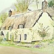 Picturesque Dunster Cottage Art Print