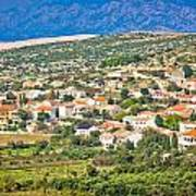 Picturesque Mediterranean Island Village Of Kolan Art Print
