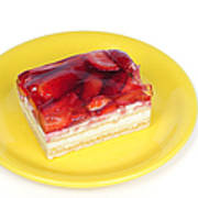 Piece Of Strawberry Cake Print by Matthias Hauser