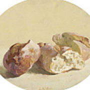 Pieces Of Baguette Art Print
