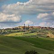Pienza In The Afternoon Panorama Art Print
