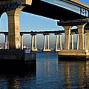 Pier 4- Coronado Bridge Art Print