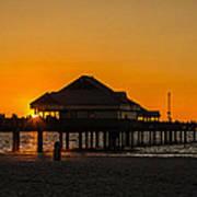 Pier 60 Sunset Art Print