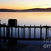 Pier At Bodega Bay California Art Print