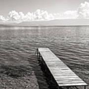 Pier At Lake Ohrid Art Print