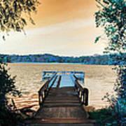 Pier At The Lake Art Print