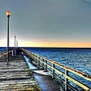 Pier - Chesapeake Bay Bridge #1 Art Print