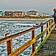 Pier Fishing 2 Art Print