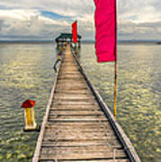 Pier Flags Art Print