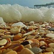 Pier Foam And Shells 5 10/13 Art Print