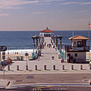 Pier Over An Ocean, Manhattan Beach Art Print