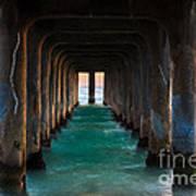 Pier Pylons Art Print