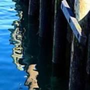 Pier Reflection Art Print