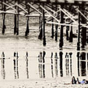 Pier Reflections Art Print